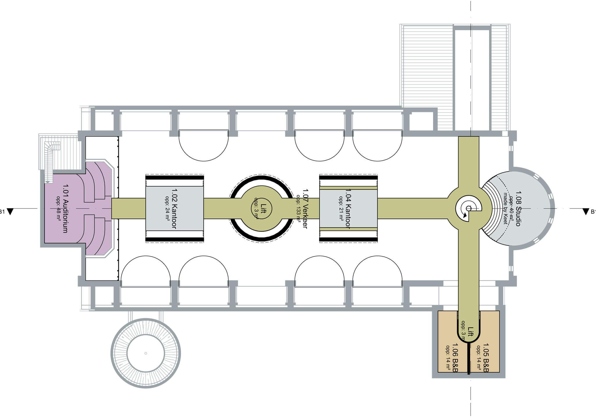 1e-verdieping-zones
